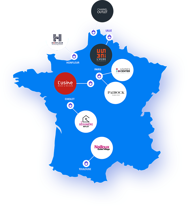 carte des centres Advantail